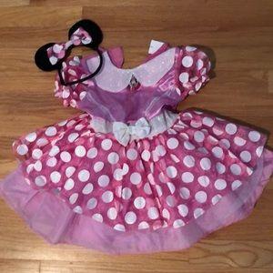 Disney Minnie Mouse Costume.. Size M 3-4T!